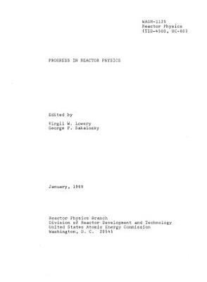 Progress in Reactor Physics PDF