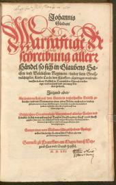 Warhaftige Beschreibung allerr Händel, so sich ... under ... Keyser Carln dem Fünfften zugetragen ...