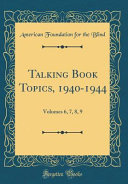 Talking Book Topics  1940 1944 PDF