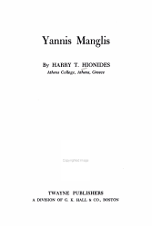 Yannis Manglis PDF
