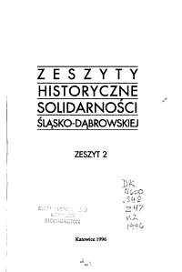 Zeszyty Historyczne Solidarno  ci Regionu   l  sko D  browskiego PDF