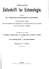 Allgemeine Zeitschrift für Entomologie: Band 6