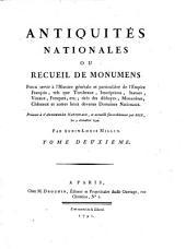 Antiquites nationales, ou recueil de monumens, tires des Abbayes, monasteres (etc.) (Avec planches.): Volume2