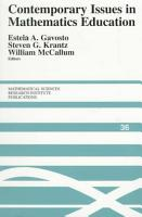Contemporary Issues in Mathematics Education PDF