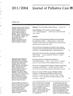 Journal of Palliative Care PDF
