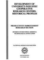 Development of University industry Cooperative Research Centers PDF