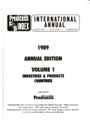 Predicasts F   S Index International Annual