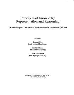 Principles of Knowledge Representation and Reasoning