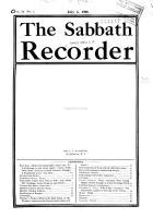 The Sabbath Recorder PDF