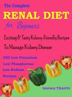 The Complete Renal Diet for Beginners