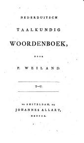 Nederduitsch taalkundig woordenboek: T - U, Volume 9