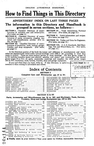 Chilton Automobile Directory