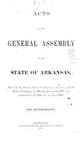 Acts of the General Assembly of the State of Arkansas