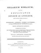 Siglarium Romanum