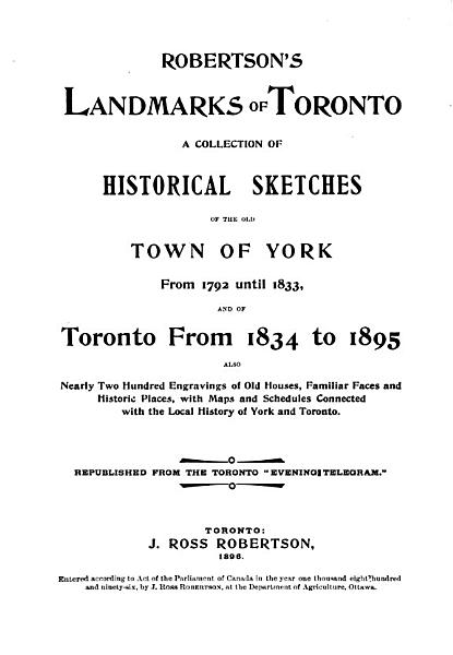 Download Robertson s Landmarks of Toronto Book