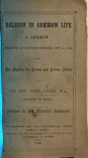 Religion in Common Life  A sermon  etc Book