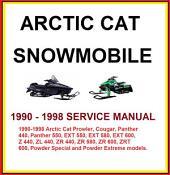 Arctic Cat Snowmobile 1990-1998 Service repair Manual: Service repair Manual