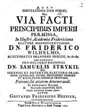 Disputationem iuris publici de via facti principibus imperii permissa