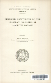 Dendroid graptolites of the Niagaran dolomites at Hamilton, Ontario