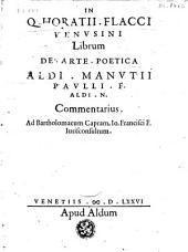 De arte poetica Aldi. Manutii Paulli. F. Aldi. N. Commentarius...
