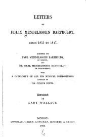 Letters from 1833 to 1847