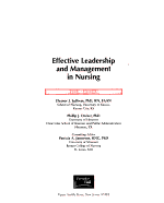 Effective Leadership and Management in Nursing PDF