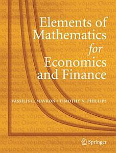 Elements of Mathematics for Economics and Finance