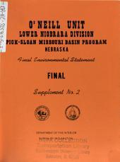 Pick-Sloan Missouri Basin, O'Neill Unit: Environmental Impact Statement