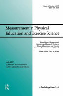 Measurement  Statistics  and Research Design in Physical Education and Exercise Science
