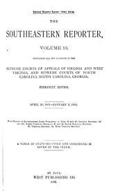 The Southeastern Reporter: Volume 13