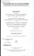 Reauthorization of the Small Business Technology Transfer Program  STTR  PDF
