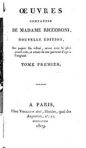 Oeuvres complètes de Madame Riccoboni