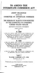 To Amend the Interstate Commerce Act
