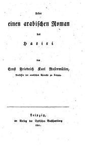 Ueber einen arabischen Roman des Hariri