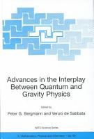 Advances in the Interplay Between Quantum and Gravity Physics PDF