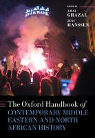 The Oxford Handbook of Contemporary Middle Eastern and North African History PDF