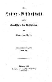 Die Polizei-Wissenschaft nach den Grundsätzen des Rechtsstaates: Band 2