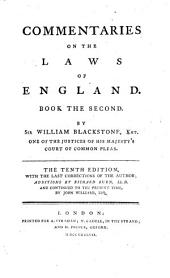 Commentaries on the Laws of England: In Four Books. Of the rights of things, Volume 2