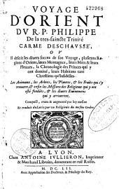 Voyage d'Orient du R. Père Philippe de la Très Sainte Trinité carme de ch., etc., trad. du latin par un religieux du même ordre