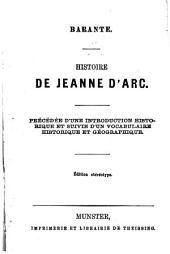 Histoire de Jeanne d'Arc: précédée d'une introduction historique et suivie d'un vocabulaire historique et géographique