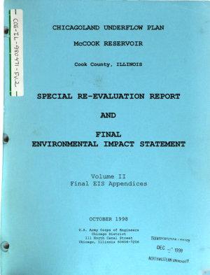 Chicagoland Underflow Plan, McCook Reservoir Special Re-evaluation Report