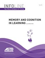 Memory and Cognition in Learning PDF