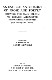 An English Anthology of Prose and Poetry, Shewing the Main Stream of English Literature Through Six Centuries.(14th Century-19th Century)