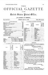 Official Gazette of the United States Patent Office: Volume 142