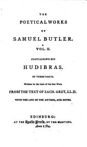 The Poetical Works of Samuel Butler ... Bell's Second Edition. [With a Portrait.]