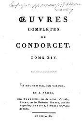 Oeuvres complètes de Condorcet: Volume14