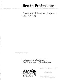 Health Professions Career and Education Directory 2007 2008 PDF