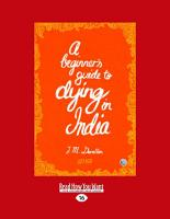 A Beginner s Guide to Dying in India PDF