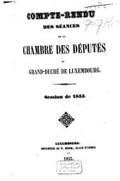 Compte-rendu des séances de la Chambre des Députes du Grand-Duché de Luxembourg: Session ordinaire, Volume6