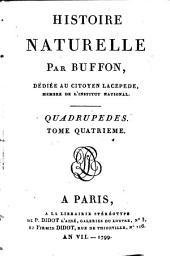 Histoire naturelle: t.1-14: Quadrupèdes (Buffon; 1799)